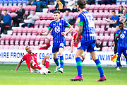 Wigan Athletic midfielder Joe Williams in action during the EFL Sky Bet Championship match between Wigan Athletic and Charlton Athletic at the DW Stadium, Wigan, England on 21 September 2019.