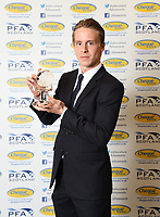 03/05/15 <br /> HILTON - GLASGOW<br /> Celtic's Stefan Johansen collects the PFA Scotland Player of the Year Award 2014.2015.