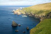 Cliffs coastal scenery, Hermaness, Unst, Shetland islands, Scotland