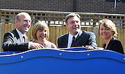 SOUTH BERMONDSEY, LONDON:  (L-R) John Healey, Gillian Warren, resident, Ed Balls, Yvette Cooper. Ed Balls, Labour Leadership candidate joins shadow housing minister John Healey and  shadow work and pensions secretary Yvette Cooper  during a visit to a housing development, The Falcon Works development, in central London on 31 August 2010. STEPHEN SIMPSON..