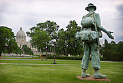 """The """"Monument to the Living"""" statue was constructed by veteran Rodger Brodin, Saturday, May 31, 2014. [ BEN BREWER • Special to the Star Tribune _ Assignments #  20034753A  DATE: May 31, 2014 SLUG: greenline.vita EXTRA INFORMATION:"""