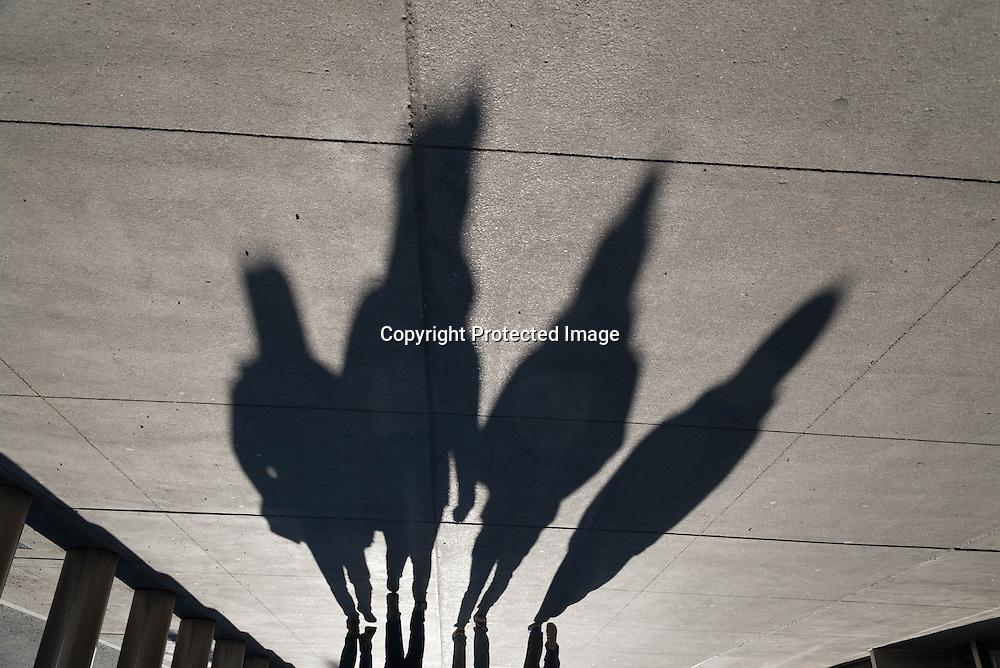 New york  people shadow on 42nd street New York - United states / ombre sur la 42 me rue   New York - Etats-unis