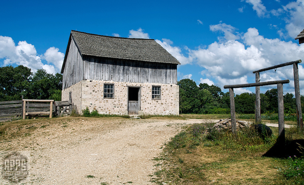 A collection of Barns that still can be seen while traveling the countryside in  the beautiful State of Wisconsin.<br /> German Horse Barn-1870's..Old World Wisconsin. Barns from around the State of Wisconsin.