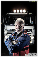 Albert Fellows, owner driver of A.P.E. Transport in the West Midlands. Picture by Shaun Fellows / Shine Pix