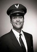 Kim Scott, pilot for Alaska Airlines, and US Air Force reservist.