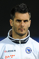 Football Fifa Brazil 2014 World Cup Matchs-Qualifier / Europe - Group G /<br /> Lithuania vs Bosnia-Herzegovina 0-1 ( S. Darius & S. Girenas Stadium - Kaunas, Lithuania )<br /> Emir SPAHIC of Bosnia-Herzegovina , during the match between Lithuania and Bosnia-Herzegovina