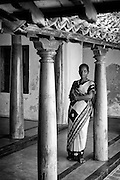 Ms Karai Selvi inside a recently restored house in Tarangambadi (Tranquebar) in South India.