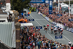 Peloton sprinting to finish during Men Elite Road Race 2019 UEC European Road Championships, Alkmaar, The Netherlands, 11 August 2019. <br /> <br /> Photo by Pim Nijland / PelotonPhotos.com <br /> <br /> All photos usage must carry mandatory copyright credit (Peloton Photos | Pim Nijland)