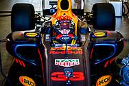 ZANDVOORT - Max Verstappen tijdens een demonstratie in zijn Red Bull Racing Formule 1-auot , bij de Jumbo Familie Racedagen op het Circuit Park Zandvoort. ANP ROBIN UTRECHT