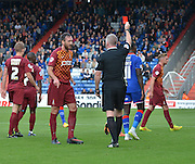 *** during the Sky Bet League 1 match between Oldham Athletic and Bradford City at Boundary Park, Oldham, England on 5 September 2015. Photo by Mark Pollitt.