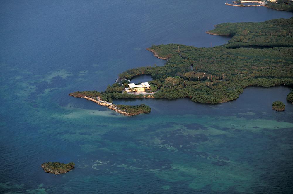 Aerial view over Florida Keys, Florida, USA