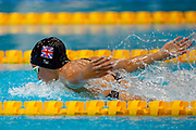 Alice Tai of Great Britain in action on her way to winning Gold  in the Women's 100 m Butterfly S8 during theWorld Para Swimming Championships 2019 Day 3 held at London Aquatics Centre, London, United Kingdom on 11 September 2019.