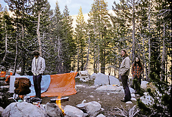 Campsite at Dusk, Young Lakes, Yosemite National Park. View shot on Kodachrome II, Nikon Ftn camera, 31 July 1973
