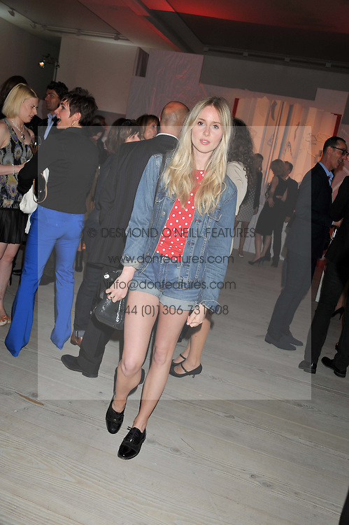 Singer DIANA VICKERS at a party hosted by Ines de la Frassange and Bruno Frisoni for Roger Vivier to launch the Roger Vivier book held at The Saatchi Gallery, London on 24th April 2013.