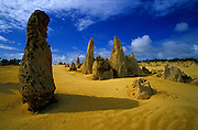 The strange landscape of the Pinnacles Desert, on Western Australia