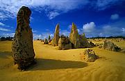 The strange landscape of the Pinnacles Desert, on Western Australia