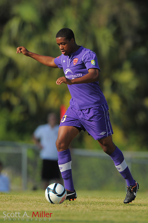 Orlando City U23s defender Darvin Ebanks (20) in action during Orlando's game against the Ocala Stampede at the Seminole Soccer Complex Saturday on May 26, 2012 in Sanford, Fla. ...©2012 Scott A. Miller..