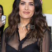 "Salma Hayek arrives at the world premiere of ""Sausage Party"" at the Regency Village Theatre on Tuesday, August 9, 2016, in Los Angeles. (Photo by Willy Sanjuan/Invision/AP)"
