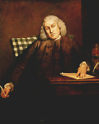 Samuel Johnson (1756-1757) English lexicographer critic and writer.  Portrait by J Reynolds (1723-1792).