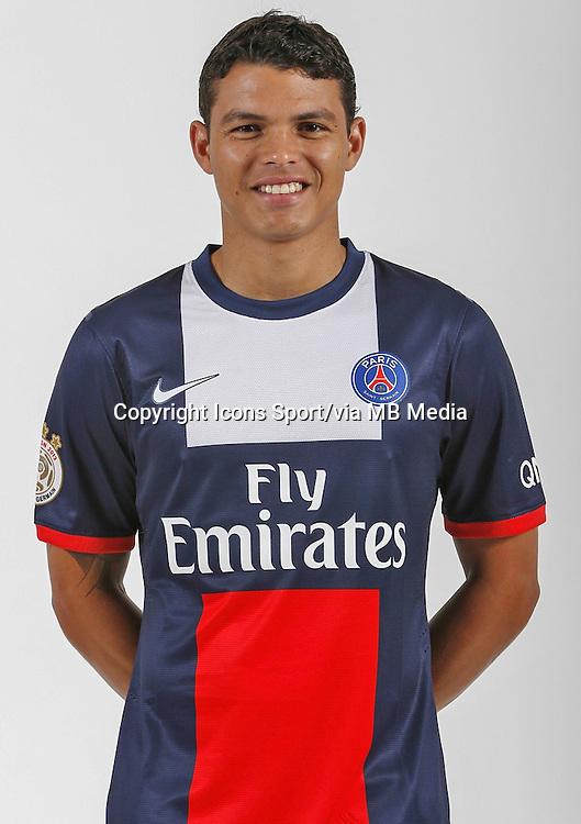 THIAGO SILVA - 26.09.2013 - Photo officielle - Paris Saint Germain 2013/2014 - Ligue 1<br /> Photo : Icon Sport