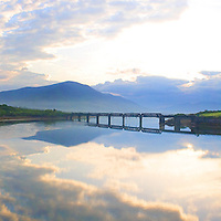 "Mystical Sunrise with view on ""Old Bridge"" and Knock na d'Tobar, Cahersiveen, County Kerry, Irleand / ch025"