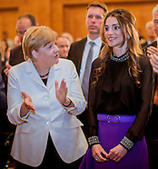 Queen Rania Receives Peace Award From Angela Merkel