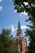 Clock tower in Kremlin. Moscow, Russia