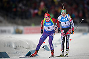 &Ouml;STERSUND, SVERIGE - 2017-12-03: Anna Frolina, Lisa Theresa Hauser under damernas jaktstart t&auml;vling under IBU World Cup Skidskytte p&aring; &Ouml;stersunds Skidstadion den 1 december 2017 i &Ouml;stersund, Sverige.<br /> Foto: Johan Axelsson/Ombrello<br /> ***BETALBILD***