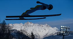 06.01.2015, Paul Ausserleitner Schanze, Bischofshofen, AUT, FIS Ski Sprung Weltcup, 63. Vierschanzentournee, Probedurchgang, im Bild Jernej Damjan (SLO) // Jernej Damjan of Slovenia during Trial Jump of 63rd Four Hills Tournament of FIS Ski Jumping World Cup at the Paul Ausserleitner Schanze, Bischofshofen, Austria on 2015/01/06. EXPA Pictures © 2015, PhotoCredit: EXPA/ JFK