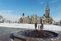 Centennial Flame in front of East Bloack - Parliament Hill Ottawa