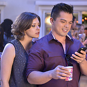 "Crazy Ex-Girlfriend -- ""I Hope Josh Comes to My Party!"" -- Image Number: CEG103b_198.jpg -- Pictured (L-R): Rachel Bloom as Rebecca and Vincent Rodriguez III as Josh -- Photo: Lisa Rose/The CW -- © 2015 The CW Network, LLC. All rights reserved."