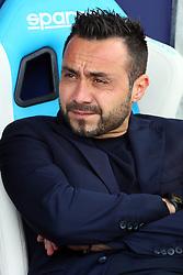 """Foto Filippo Rubin<br /> 06/05/2018 Ferrara (Italia)<br /> Sport Calcio<br /> Spal - Benvento - Campionato di calcio Serie A 2017/2018 - Stadio """"Paolo Mazza""""<br /> Nella foto: ROBERTO DE ZERBI (ALLENATORE BENEVENTO)<br /> <br /> Photo Filippo Rubin<br /> May 06, 2018 Ferrara (Italy)<br /> Sport Soccer<br /> Spal vs Benvento - Italian Football Championship League A 2017/2018 - """"Paolo Mazza"""" Stadium <br /> In the pic: ROBERTO DE ZERBI (BENEVENTO'S TRAINER)"""