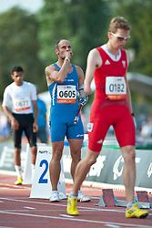 Behind the scenes, GOBBI Samuele, ITA, 400m, T46, 2013 IPC Athletics World Championships, Lyon, France