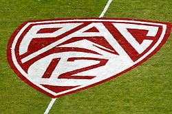 PALO ALTO, CA - OCTOBER 06: Aerial view of the Pac-12 logo painted on the field before the game between the Stanford Cardinal and the Arizona Wildcats at Stanford Stadium on October 6, 2012 in Palo Alto, California. The Stanford Cardinal defeated the Arizona Wildcats 54-48 in overtime. (Photo by Jason O. Watson/Getty Images) *** Local Caption ***