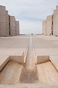 Fountain, Human Figures, Main Courtyard, Salk Institute for Biological Studies, La Jolla Shores, San Diego, California, 2009 by David Leland Hyde.