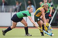 Setanta Sports Trophy, The National Hockey Stadium, UCD, Belfield, Dublin 11/6/2008.Ireland vs South Africa.Ireland's Emma Clarke and Kate Hector of South Africa.Mandatory Credit ©INPHO/Lorraine O'Sullivan
