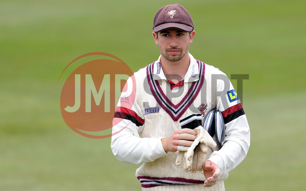 Somerset's Alex Barrow - Photo mandatory by-line: Harry Trump/JMP - Mobile: 07966 386802 - 04/04/15 - SPORT - CRICKET - Pre Season - Day 3 - Somerset v Durham MCCU - Taunton Vale, Somerset, England.