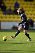 16th February 2019, Tony Macaroni Arena, Livingston, Scotland; Ladbrokes Premiership football, Livingston versus Dundee; James Horsfield of Dundee during the warm up before the match