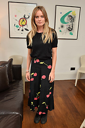 CRESSIDA BONAS at a lunch to promote the jewellery created by Luis Miguel Howard held at Morton's, Berkeley Square, London on 20th October 2016.