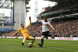 12 March 2017 - The FA Cup - (Sixth Round) - Tottenham Hotspur v Millwall - Jed Wallace of Millwall in action with Ben Davies of Tottenham Hotspur - Photo: Marc Atkins / Offside.