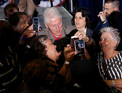Former President Bill Clinton reaches out to the crowd as he campaigns for Hillary Clinton during the last few days before the presidential election on Tuesday, November 8, 2016 in in Florida City, FL, USA. Photo by Carl Juste/Miami Herald/TNS/ABACAPRESS.COM