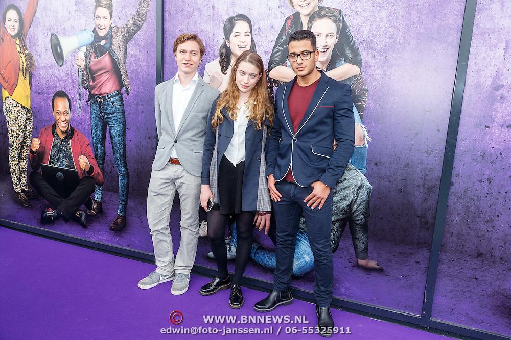 NLD/Amsterdam/20150614 - Filmpremiere Spangas in Actie, Sol Vinken, Megan de Kruijff, Anouar Ennali