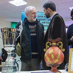 Finsbury Park Mosque, London, February 7th 2016. Labour Leader and local MP Jeremy Corbyn meets members of the local community and mosque leaders as part of a Visit My Mosque initiative by the Muslim Council of Britain to show non-Muslims &ldquo;how Muslims connect to God, connect to communities and to neighbours around them&rdquo;.<br /> . ///FOR LICENCING CONTACT: paul@pauldaveycreative.co.uk TEL:+44 (0) 7966 016 296 or +44 (0) 20 8969 6875. &copy;2015 Paul R Davey. All rights reserved.