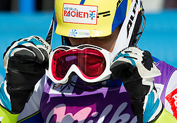 VALENCIC Mitja of Slovenia in finish area after he competed in 2nd Run of Men's Slalom - Pokal Vitranc 2012 of FIS Alpine Ski World Cup 2011/2012, on March 11, 2012 in Vitranc, Kranjska Gora, Slovenia.  (Photo By Vid Ponikvar / Sportida.com)