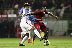 November 14, 2017 - Leiria, Portugal - Manuel Fernandes (R) vies with Weston McKennie during the Friendly match  football match between Portugal and USA at Municipal de Leiria Stadium in Leiria on November 14, 2017. (Credit Image: © Carlos Costa/NurPhoto via ZUMA Press)