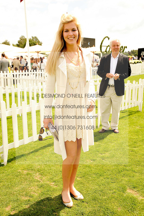 ALLEGRA VAN ZUYLEN at the Cartier International Polo at Guards Polo Club, Windsor Great Park, Berkshire on 25th July 2010.