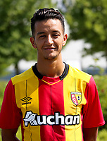Mouaad Madri during photoshooting of RC Lens for new season 2017/2018 on October 5, 2017 in Lens, France<br /> Photo by RC Lens / Icon Sport