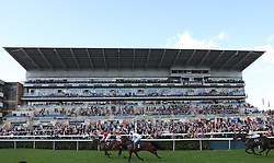 Central City (left) ridden by Ted Durcan wins the Clipper Logistics Leger Legends Classified Stakes from Detachment, during day one of the 2018 William Hill St Leger Festival at Doncaster Racecourse, Doncaster.