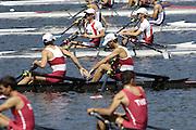 2006, U23 Rowing Championships,Hazewinkel, BELGIUM Saturday, 22.07.2006. Start men's Lightweight Double Sculls,  Photo  Peter Spurrier/Intersport Images email images@intersport-images.com..[Mandatory Credit Peter Spurrier/ Intersport Images] Rowing Course, Bloso, Hazewinkel. BELGUIM
