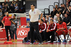 Bristol Flyers head coach, Andreas Kapoulas - Photo mandatory by-line: Dougie Allward/JMP - Mobile: 07966 386802 - 28/03/2015 - SPORT - Basketball - Bristol - SGS Wise Campus - Bristol Flyers v London Lions - British Basketball League